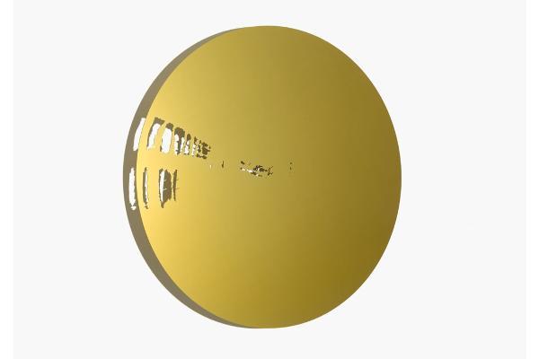 Schatten | Raum, Scheibe I, 2011 Aluminium, Aussparung gesägt, eloxiert, Ø 970 x 3 mm (Foto: René Schäffer)